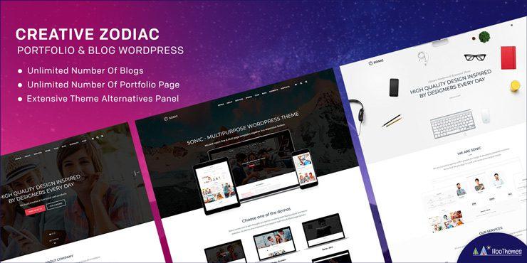 Creative Zodiac – Portfolio & Blog WordPress Theme