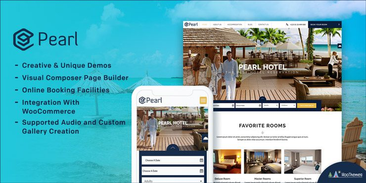 Pearl – Restaurant and Hotel WordPress Theme
