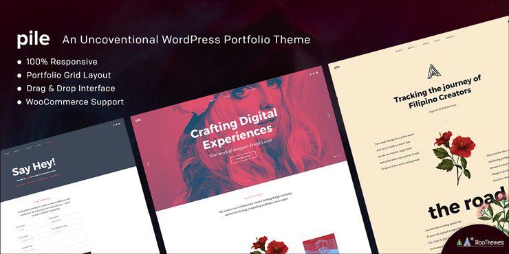 PILE – An Unconventional WordPress Portfolio Theme