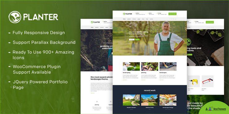 Planter – Landscaping Gardening & Lawn WordPress Theme