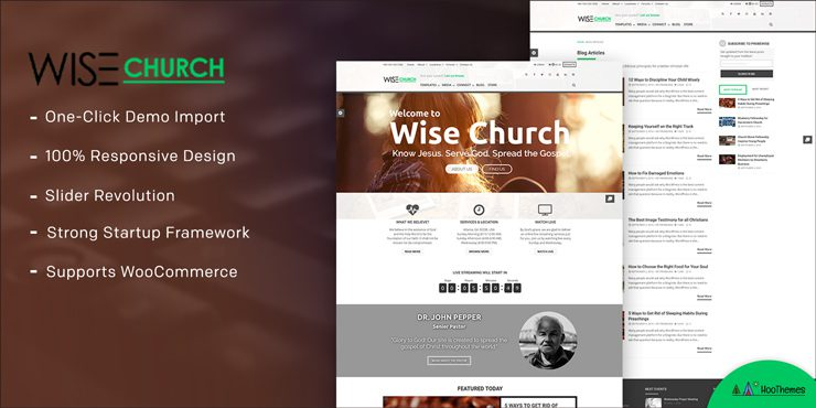 Wise Church – Multi-Purpose Online Ministry WordPress Theme