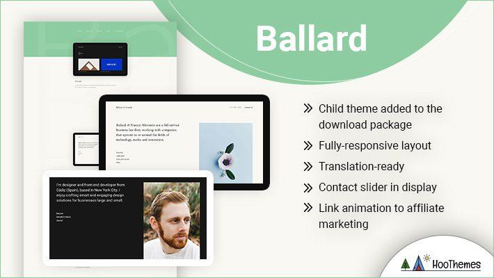 Ballard Personal Branding WordPress Theme