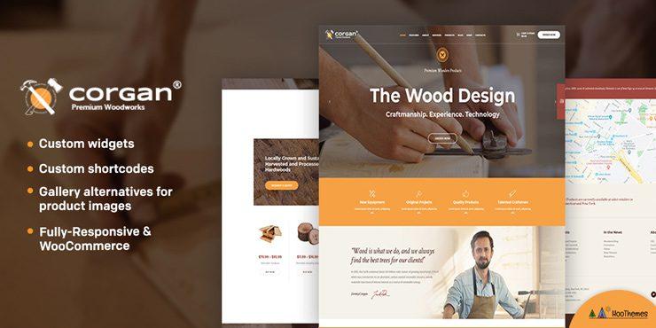 Corgan - Woodworks, Carpentry and Flooring WordPress Theme