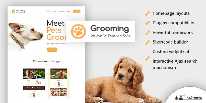Grooming - Pet Shop & Veterinary Physician WordPress Theme