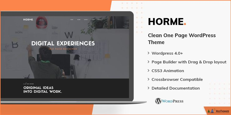 Horme One Page WordPress Theme