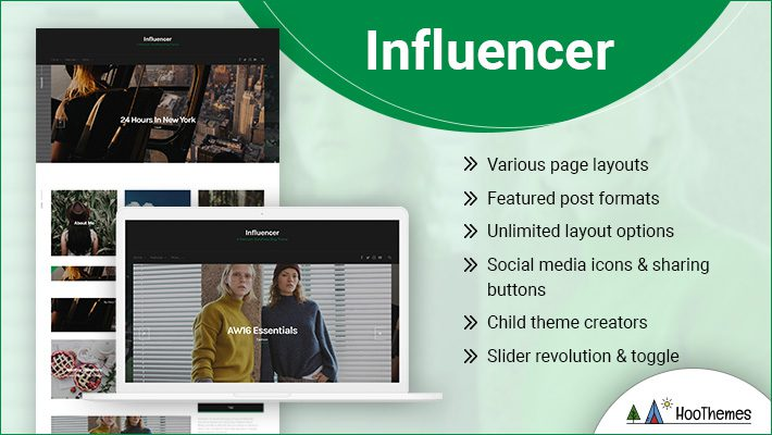 Influencer Personal Branding WordPress Theme