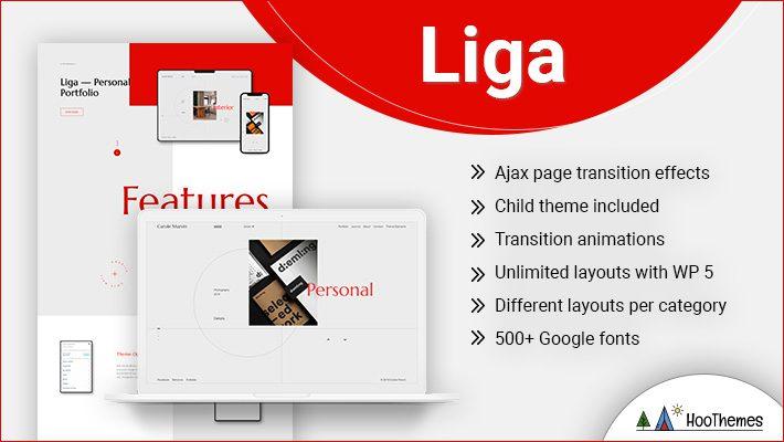 Liga Personal Branding WordPress Theme