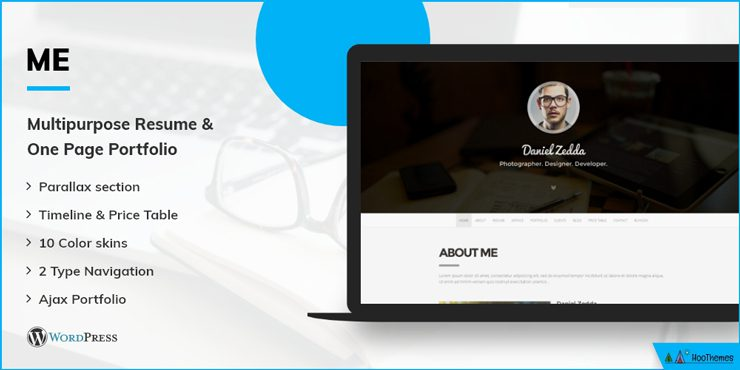 Me - One Page WordPress Theme
