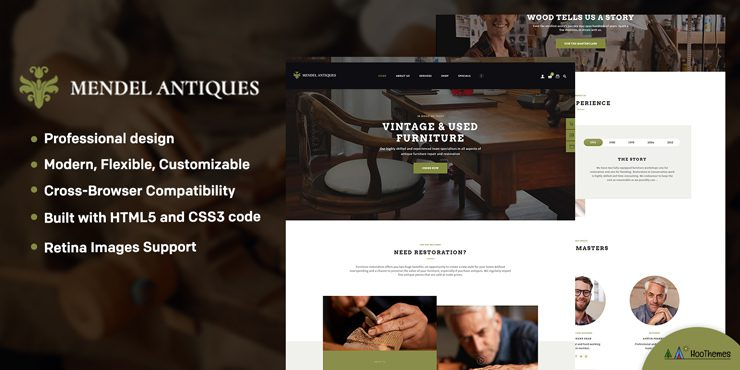Mendel - Furniture Design & Interior Restoration WordPress Theme