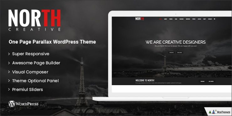 North Single Page WordPress Themes