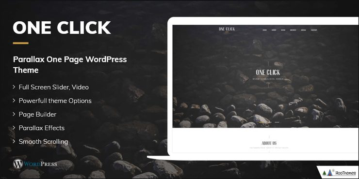 One Click - One Page WordPress Theme
