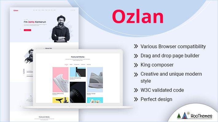 Ozlan Personal Branding WordPress Theme
