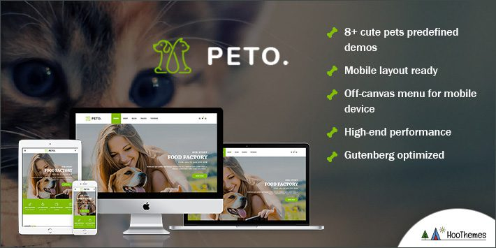 Peto - Animal and Pet Shop WooCommerce WordPress Theme