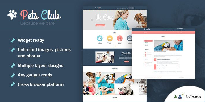Pets Club - Domestic Animals Care, Shop & Veterinary WordPress Theme