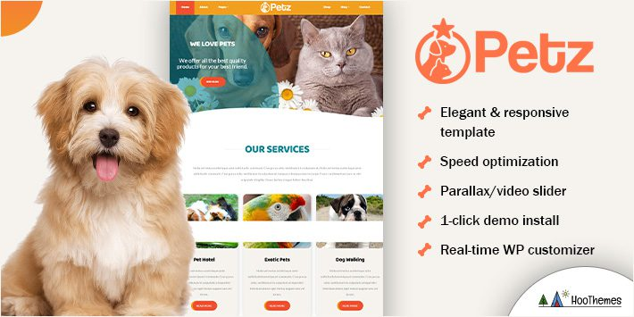 Petz - Pet Care and Veterinary Theme
