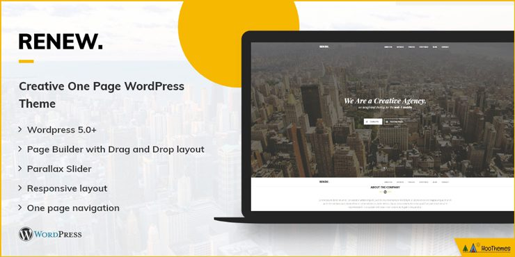 RENEW - One Page WordPress Theme