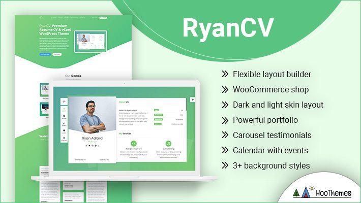 RyanCV Personal Branding WordPress Theme
