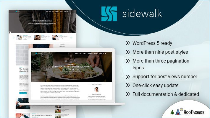 Sidewalk Personal Branding WordPress Theme