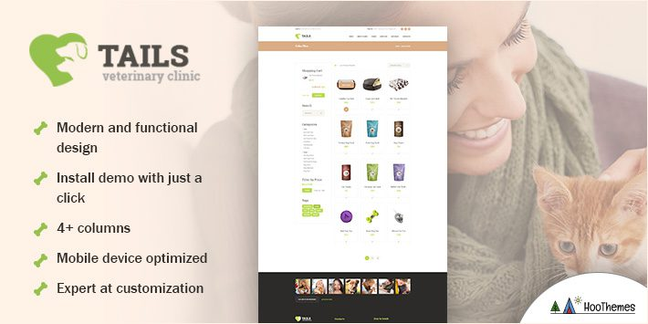 Tails - Veterinary Clinic, Pet Care & Animal WordPress Theme