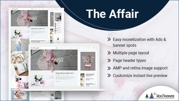 The Affair Personal Branding WordPress Theme