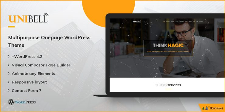 Unibell Single Page WordPress Theme