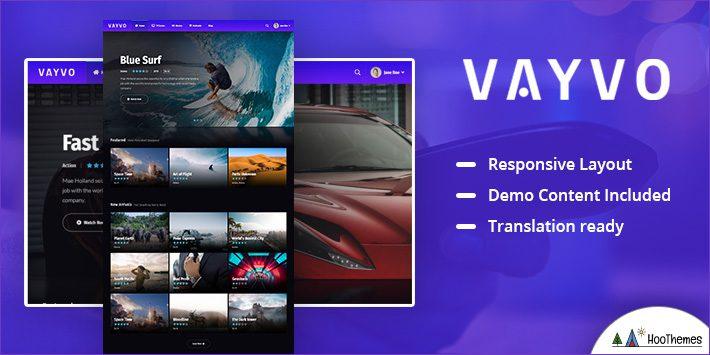 Vayvo - Media Streaming and Membership Theme