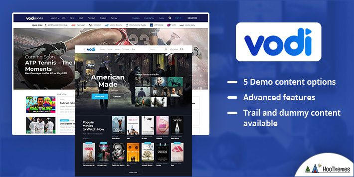 Vodi - Video WordPress Theme for Movies and TV Shows