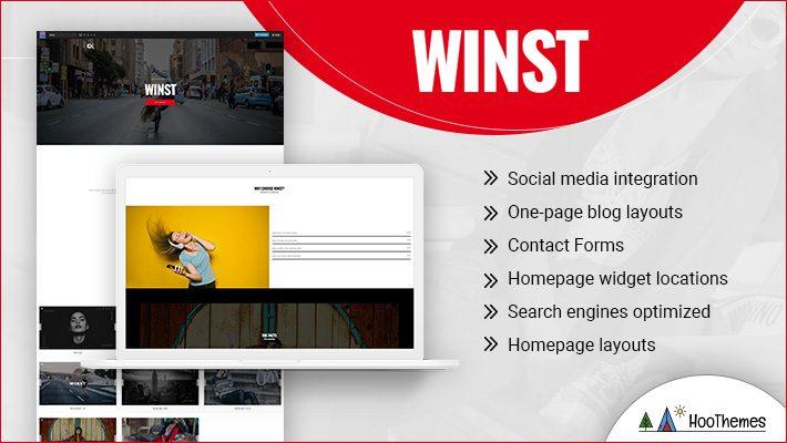 Winst Personal Branding WordPress Theme