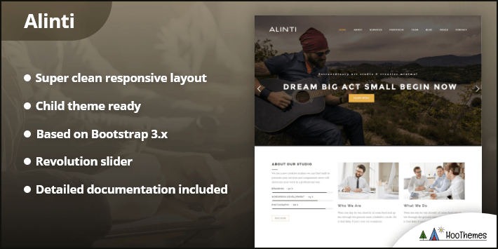 Alinti Minimal Creative WordPress Portfolio