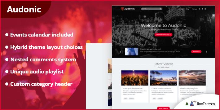 Audonic - Music & Podcasting WordPress Theme