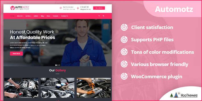 Automotz Auto Repair Services WordPress Theme