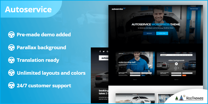Autoservice Car Mechanics Auto Repairs Car Workshops WordPress Theme
