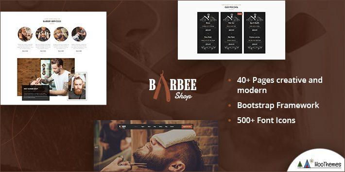 Barbee - Responsive Barber Shop & Hair Salon WordPress Theme