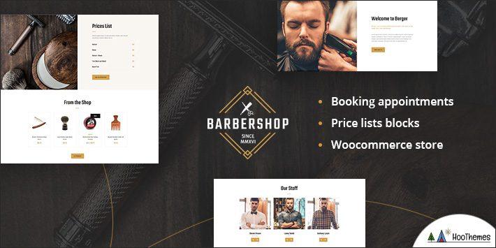 Berger - Barbershop and Hairdresser + Tattoo Salon WordPress Theme