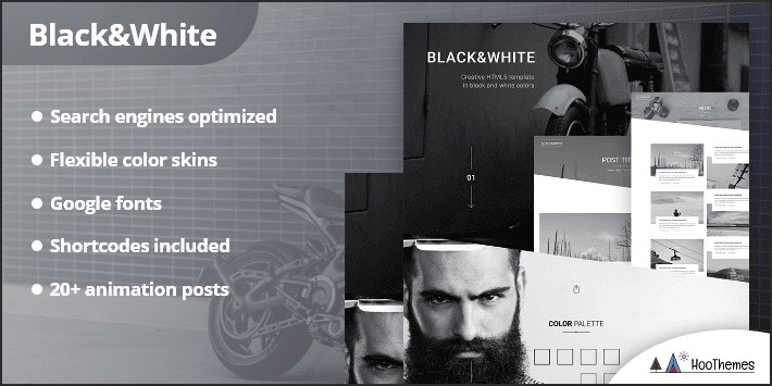 Black White Creative Multipurpose WordPress Theme