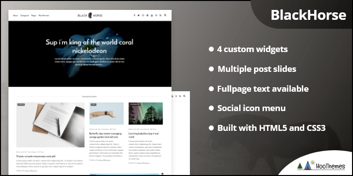 Blackhorse Elegant WordPress News Magazine Blog Theme