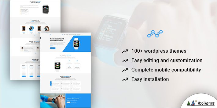 Blue Single Product Lead Generation Theme