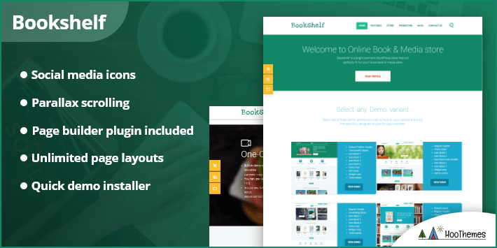 Bookshelf - Books & Media Online Store WordPress Theme
