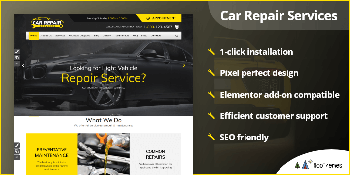 Car Repair Services Auto Mechanic WordPress Theme