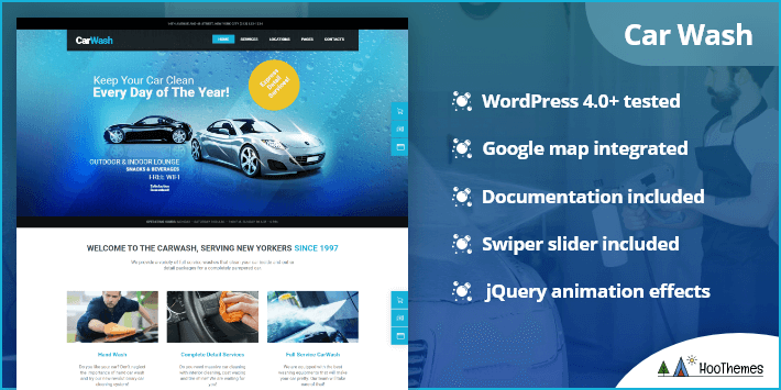 Car Wash Auto Mechanic Repair Shop WordPress Theme