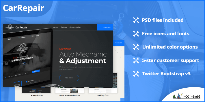 Carrepair Auto Mechanic Adjustment WordPress Theme