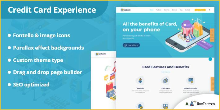 Credit Card Experience Credit Repair WordPress Theme
