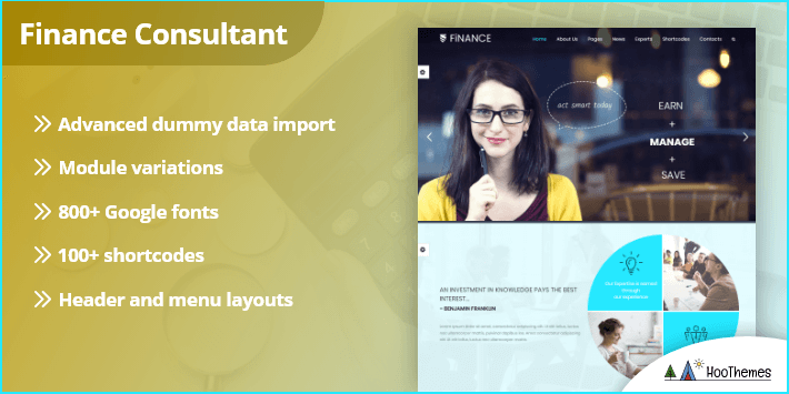 Finance Consultant Consulting WordPress Theme