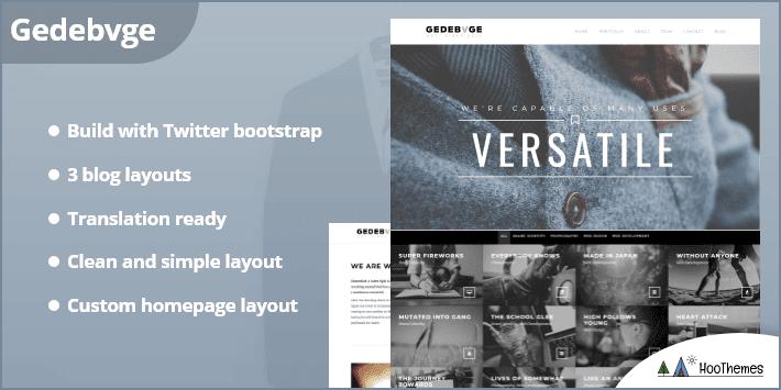 Gedebvge Responsive One Page Portfolio Theme