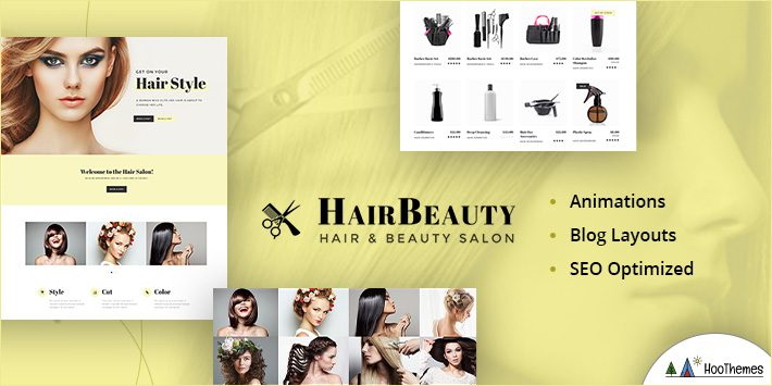 Hair Beauty - Barber and Stylist WordPress Theme
