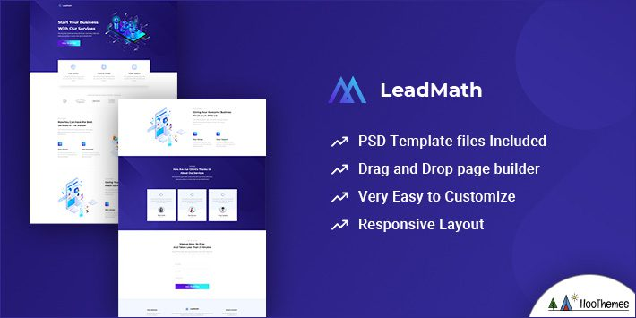 LeadMath - Lead Generation Unbounce Landing Page Template