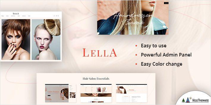 Lella - Hairdresser and Beauty Salon Theme