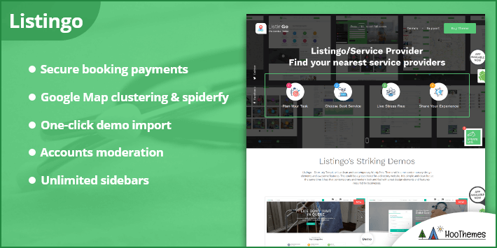 Listingo - Business Listing and Directory WordPress Theme