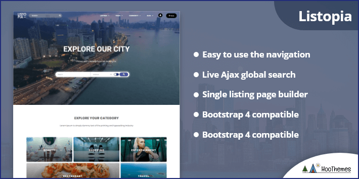 Listopia - Directory Community WordPress Theme