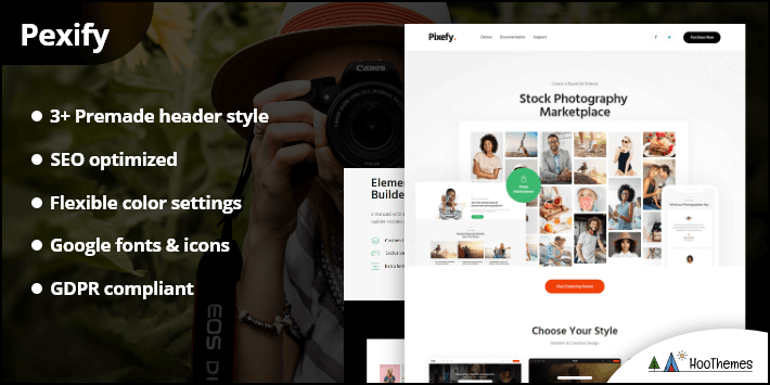 Pixefy - Stock Photography Marketplace Theme